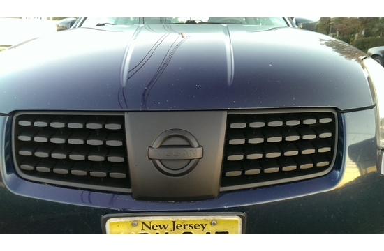 Nissan Maxima Grille and Emblem Plasti-Dipped Black